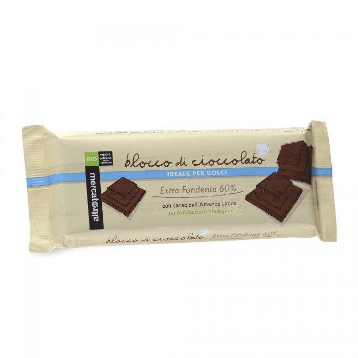 blocco di cioccolato fondente bio