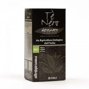 tè nero deteinato bio dall'india 20 filtri