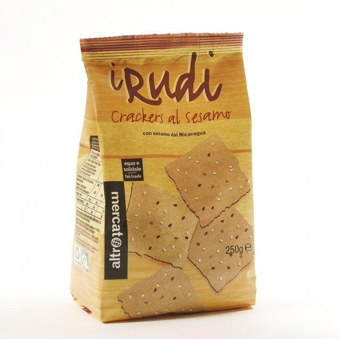 i rudi - cracker al sesamo con quinoa e tapioca
