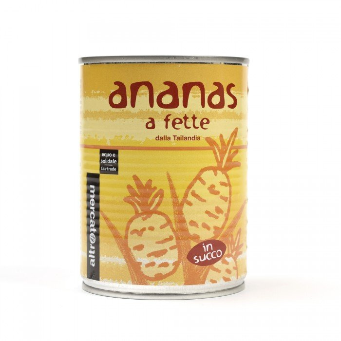 ananas a fette in succo