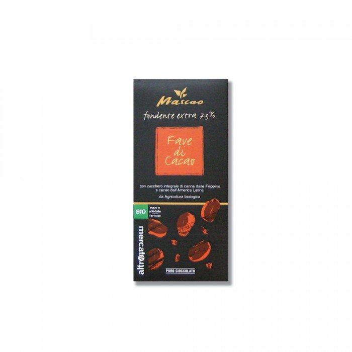 mascao fondente con fave di cacao bio