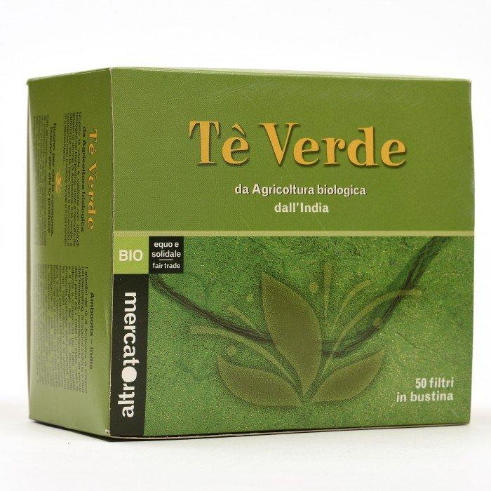 tè verde bio dall'india 50 filtri