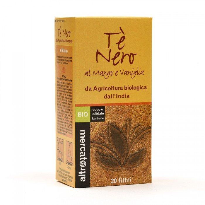 tè nero al mango e vaniglia bio 20 filtri