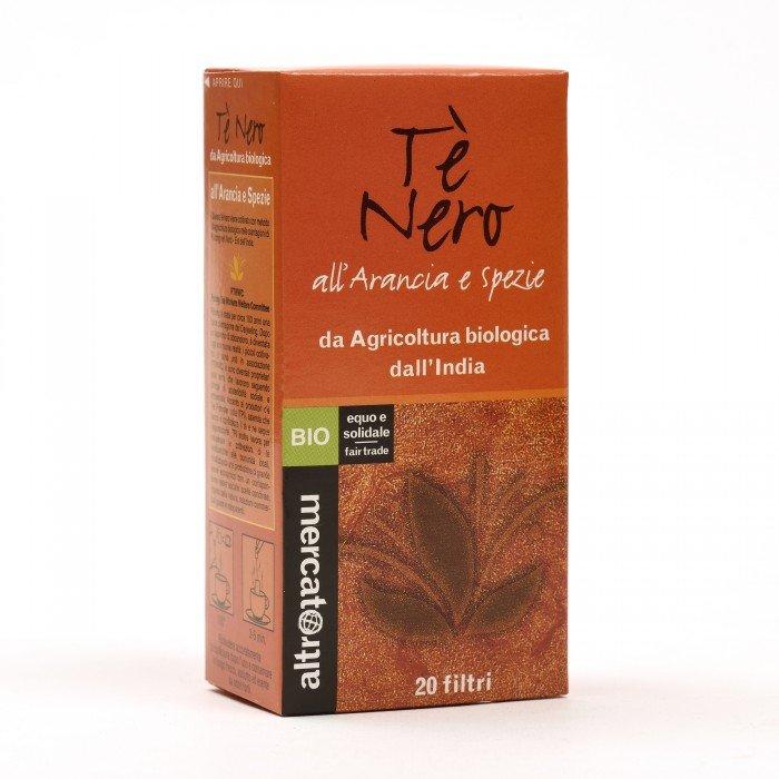 tè nero all'arancio e spezie bio 20 filtri