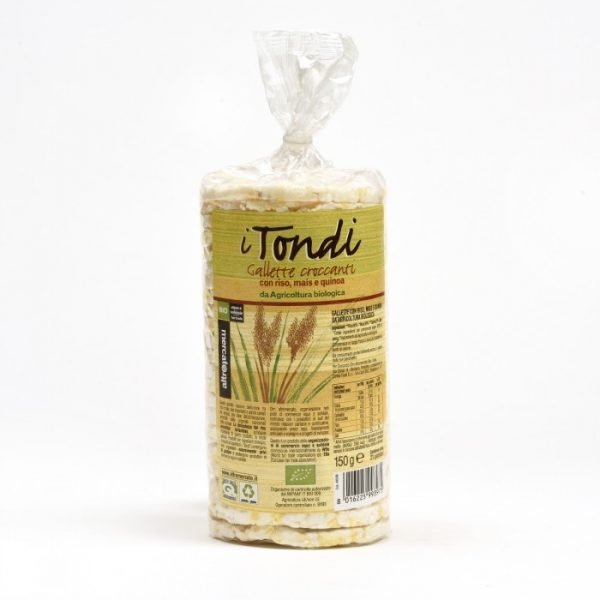 tondi - gallette con riso mais e quinoa bio