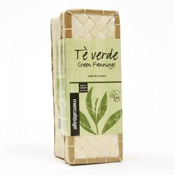 tè verde in cestino sri lanka 25 filtri