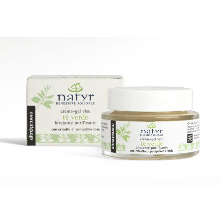 Crema-Gel Viso Idratante Purificante Tè Verde