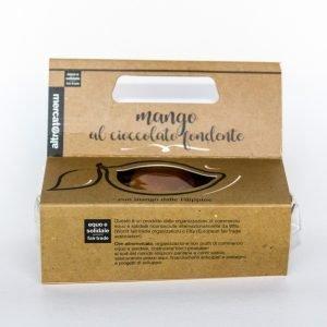 lingue di mango ricoperte di cioccolato fondente - 115 g