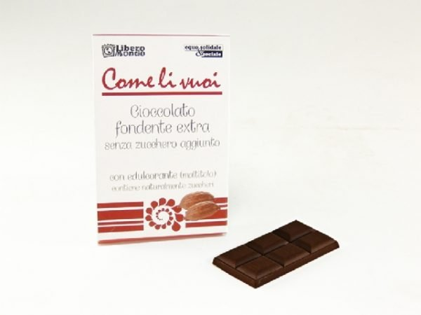 come li vuoi - cioccolato fondente senza zucchero