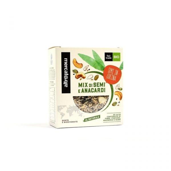 mix di semi e granella di anacardi (sesamo, chia, anacardi, zucca e girasole)