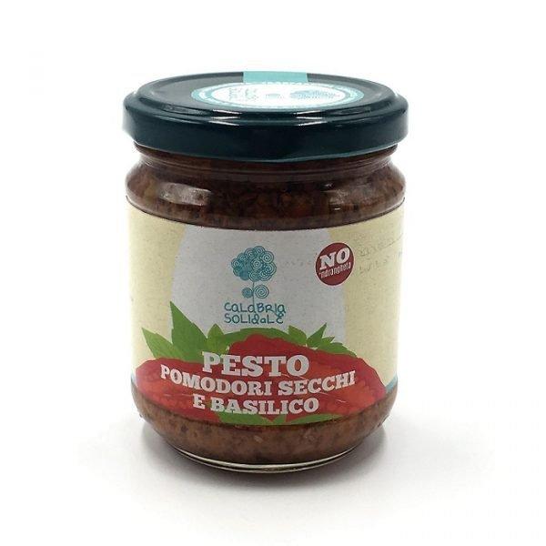 pesto di pomodori secchi e basilico 100 g calabria solidale