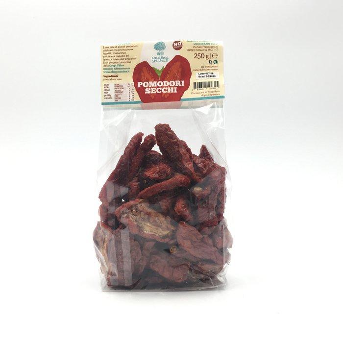 pomodori secchi in busta 250 g calabria solidale