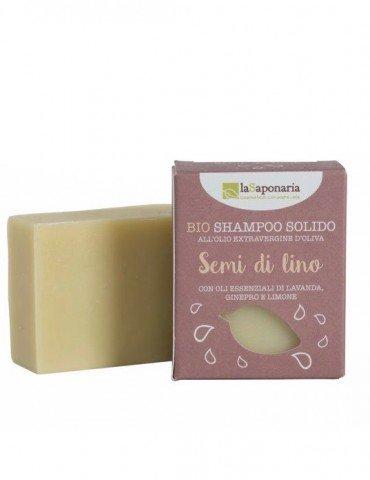 Shampoo solido ai semi di lino 100g