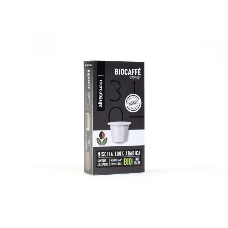 biocaffè - 100% arabica 10 capsule compatibili nespresso - 52 g