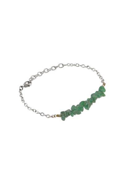 Bracciale Lili avventurina ottone verde