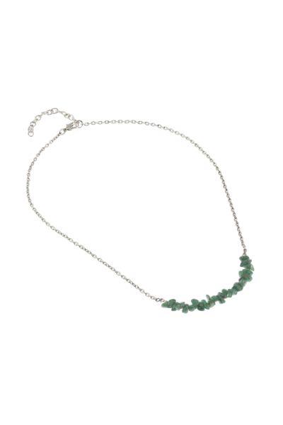 Collana Lili avventurina ottone verde c.1
