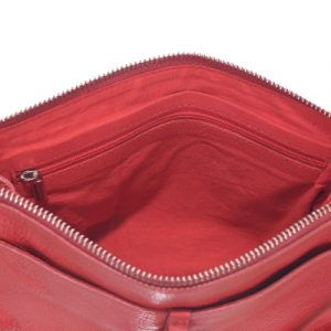 Borsa Elena in nappa, rosso