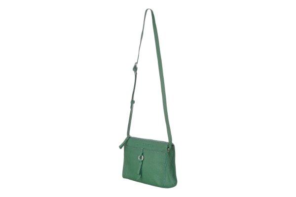Borsa Elena in nappa, verde
