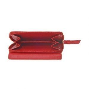 Portafoglio Compact in nappa, rosso