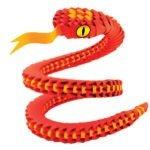 Creagami.Sculture di carta. Serpente S