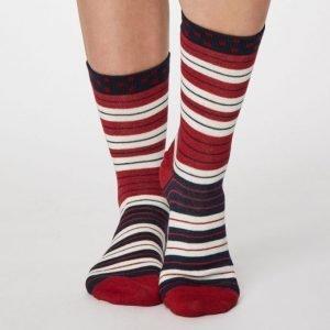 Addie Stripe calza donna berry red