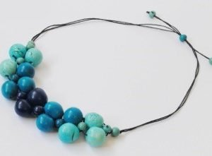 Collana Calido blu/turchese/acquamarina chicon/acai