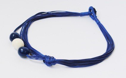 Collana Alegre blu e naturale seme chicon