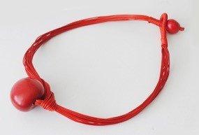 Collana Fuerte rossa tagua