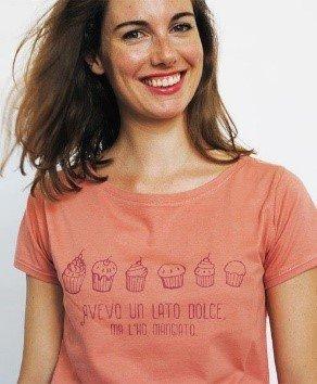 T-shirt donna Lato Dolce M rosa corallo