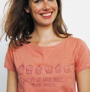 T-shirt donna Lato Dolce L rosa corallo