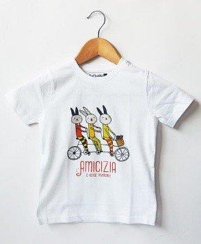 T-shirt bimb* Invincibili 3/4 anni bianca