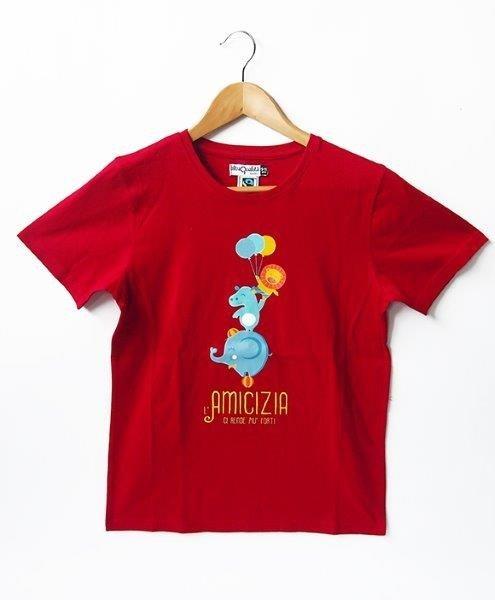 T-shirt bimb* Forti 3/4 anni rosso scuro