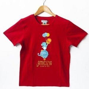T-shirt bimb* Forti 5/6 anni rosso scuro
