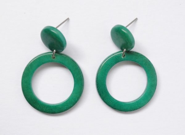 Orecchini Soleado verde smeraldo in tagua