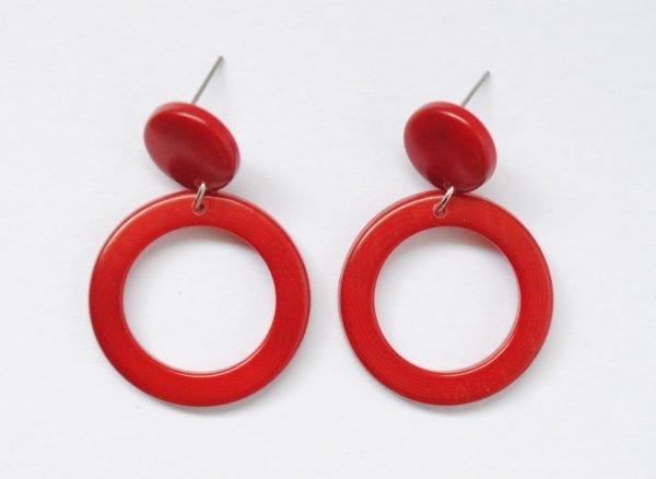 Orecchini Soleado rossi in tagua