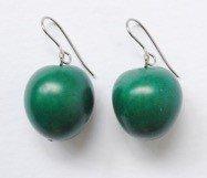 Orecchini Dulce verde smeraldo seme chicon