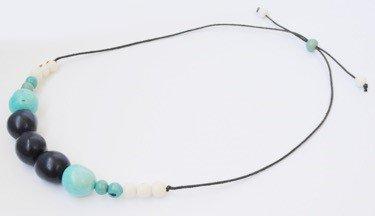 Collana Dulce blu/acquamarina/naturale chicon/acai
