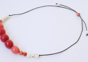 Collana Dulce rosso/corallo/naturale chicon/acai