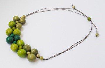 Collana Calido verde smeraldo/kiwi/muschio chicon/acai