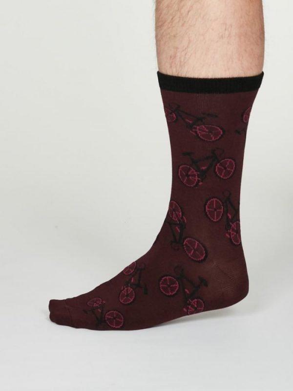 Wesley calze uomo burgundy