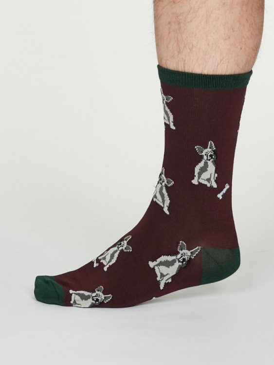 Lyman calze uomo burgundy