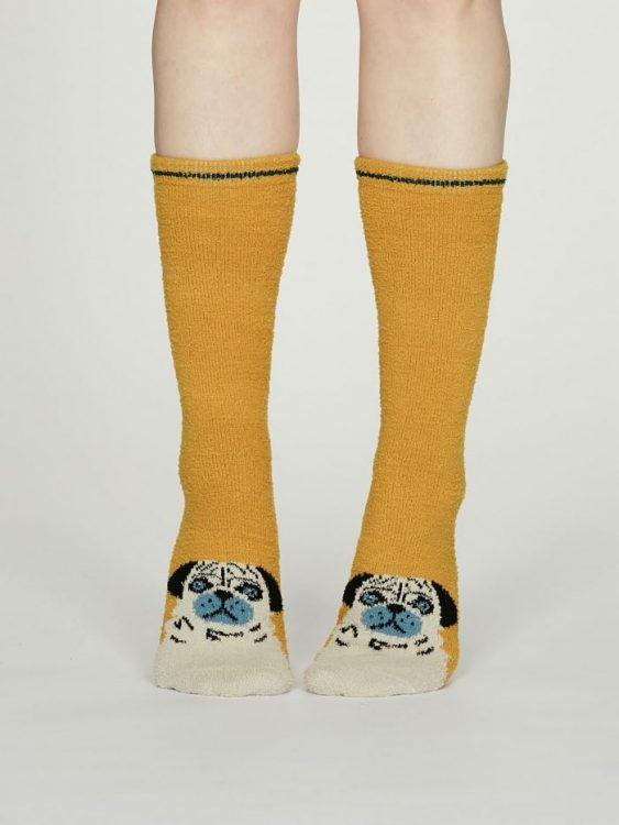 Rebecca Fuzzy calza donna mustard