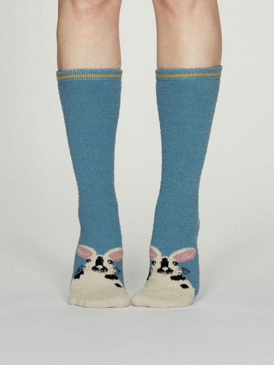 Rebecca Fuzzy calza donna powder blue