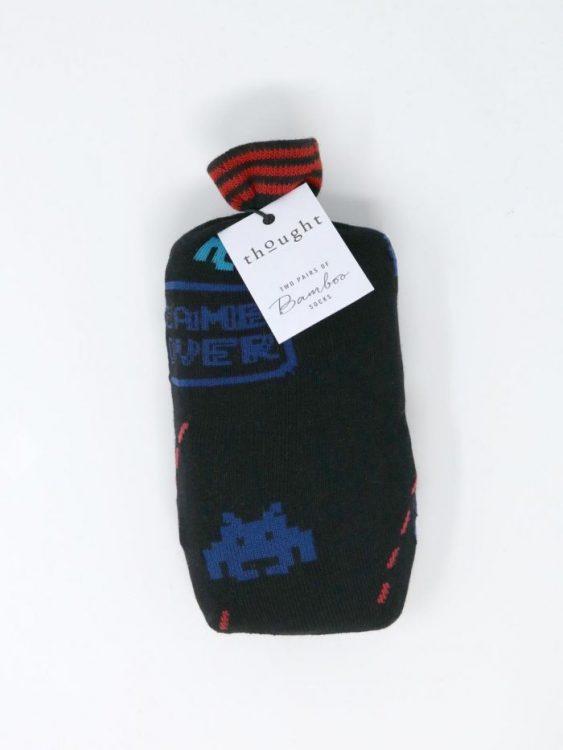 Retro 2 paia calze uomo giftbag
